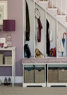 ways to use the space under your stairs