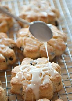I baked a batch of these tonight. They are   quite possibly the best scones I have ever made. Light, flaky and so lemon-y.   Make your own powdered sugar for the glaze, no aftertaste!