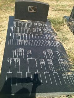 Pedigree Chart Tombstone in northern Missouri. Photo by Cheryl Lang #mymgc #genealogy