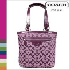 'Coach Penelope Tote-Plum-14693' is going up for auction at  4pm Mon, Oct 14 with a starting bid of $1.
