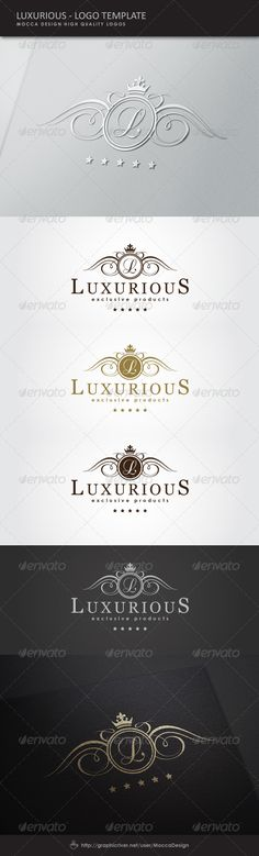 Luxurious Logo  #GraphicRiver         Luxurious is a clean, professional and elegant logo suitable for any kind of business or personal identity which requires a noble and stylish image.