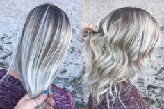 Blonde hair  Platinum  Balayage  Shadow root  Blonde
