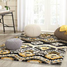 Shag Collection TBS553B Color: Black / Gold  #rug #carpet #safavieh #safaviehrug  #trendy #homedecor #homeaccents #shophome #livingroom #diningroom #bedroom #kitchen #office #rugsforyourhome #shag #shagrug #shagcarpet #softshagrugs #shagrugdesign #stunningshagrugs #safaviehshag #safaviehshagrugs #trendyrugs #bestrugs #bestrugprices