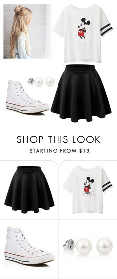 """HS Outfits"" by riniu ❤ liked on Polyvore featuring beauty, LE3NO, Uniqlo and Converse"
