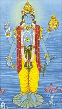 Dhanvantari (Sanskrit: धन्वन्तरि) is an Avatar of Vishnu from the Hindu tradition. He appears in the Vedas and Puranas as the physician of the gods (devas), and the god of Ayurvedic medicin
