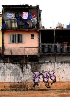 Sinhá, Washing Line, Sao Paulo - unurth | street art
