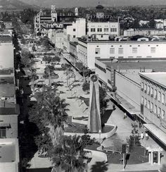 Riverside California, Riverside County, Vintage California, Southern California, Montgomery Ward, Parking Lot, Department Store, Back In The Day, Main Street