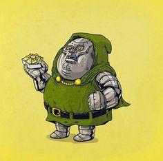 Fat Pop Culture – 39 nouvelles illustrations obèses d'Alex Solis ! (image)