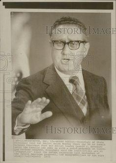 1975 Press Photo Secretary State Henry Kissinger No Summit Soviet Union Speech