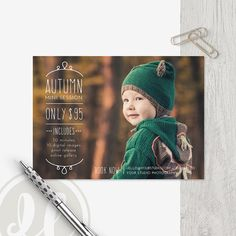 Fall Mini Session Template  Instant Download Fall Marketing
