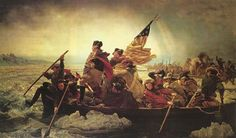 Emanuel Gottlieb Leutze's famous painting showing Washington crossing the Delaware.