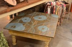 Painted Coffee Table made-of-walls-and-beams
