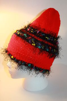 Christmas in July  Funky   Fuzzy Hat Fun Multicolor by toppytoppy, $22.00