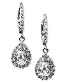 Givenchy Silvertone Drop Earrings.