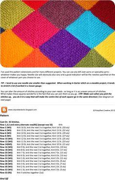 Mitered square blanket.