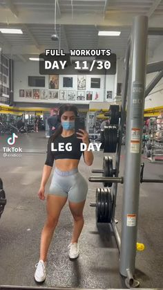 Leg And Glute Workout, Full Body Workout Routine, Leg Day Workouts, Gym Workout Videos, Gym Workout For Beginners, Fitness Workout For Women, Fitness Goals, Fitness Tips, Skinny To Fit