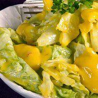 Sałata z sosem mango (bez glutenu, bez laktozy)