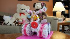 A quick video on how to make a Diaper Cake Quad Runner for Baby Girls. This is a fun easy baby shower gift you can make for your friends or family. Thanks so...