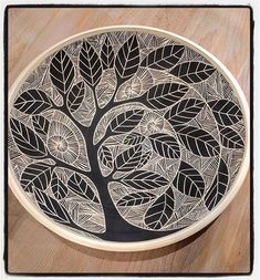 Light Through the Trees large serving bowl X Special request for a very wonderful person. Light Through the Trees large serving bowl X Special request for a very wonderful person. Ceramic Decor, Ceramic Clay, Ceramic Painting, Ceramic Plates, Sgraffito, Pottery Bowls, Ceramic Pottery, Pottery Art, Pottery Painting Designs