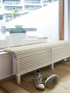 cache radiateur – … – - Decoration For Home Living Room Decor Furniture, Diy Furniture, Furniture Design, Diy Radiator Cover, Home Projects, Home And Living, House Design, Radiators, Oriental Salad