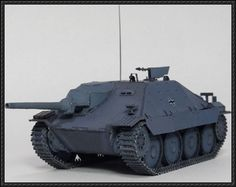 WWII Jagdpanzer 38(t) Hetzer (Sd.Kfz 138/2) Tank Destroyer Paper Model Free Download - http://www.papercraftsquare.com/wwii-jagdpanzer-38t-hetzer-sd-kfz-1382-tank-destroyer-paper-model-free-download.html