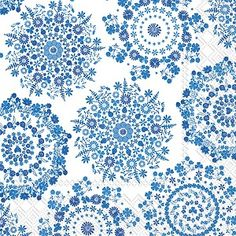 Lilly white blue Luncheon Napkins 240 ct