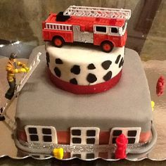 ~ Fire Station Birthday Cake ~