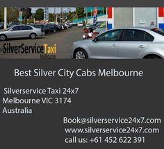 Travel in Melbourne with #Best #Silver #city #cabs in #Melbourne. #Silverservice24x7 #Taxi #Melbourne provides #services not only inside the #city as well outside the city also. #Book #Cabs by Book@silverservice24x7.com and visit at www.silverservice24x7.com and call us at +61 452 622 391