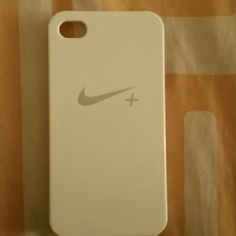 White Nike + Case 4-4s Nice plastic white case for iPhone 4-4s. I used this once and never used it after Nike Accessories Phone Cases