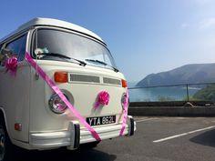 VW Camper Wedding at Lynton Devon Devon Holidays, North Devon, Vw Camper, Weddings, Wedding, Marriage