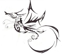 stylized tribal seahorse - Google Search