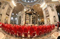 115 cardinals held a first inconclusive vote in the Sistine Chapel as the process of electing a successor to Benedict XVI begins. Thousands of people packed into St Peter's Square to watch the time-honoured tradition.