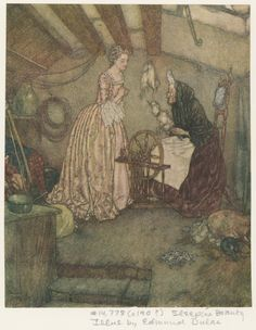 From The sleeping beauty and other fairy tales, from the old French retold by Sir Arthur Quiller-Couch, illustrated by Edmund Dulac. (New York George A. Doran c19--?) .