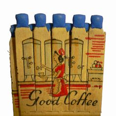 5pcs Vintage 30s COFFEE FIGURAL MATCHES by cOveTableCuriOsitiEs