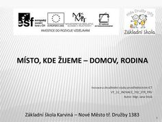 MÍSTO, KDE ŽIJEME – DOMOV, RODINA> Math, Words, Crafts, Diy, Author, Literature, Build Your Own, Bricolage, Creative Crafts