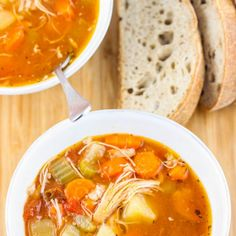 Zesty Crock Pot Chicken and Potato Stew Recipe Soups, Main Dishes with russet potatoes, chicken broth, crushed tomatoes, celery, yellow onion, carrots, marinade, salt, pepper, smoked paprika, oregano, bay leaves, chicken thighs