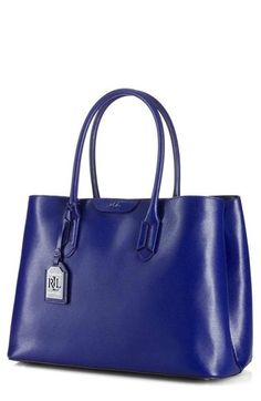 Lauren Ralph Lauren Leather Tote available at #Nordstrom