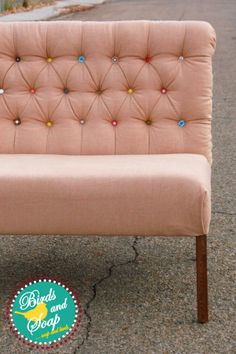 DIY Diamond Tufted Dining Bench - Part 2. great idea for a head board too