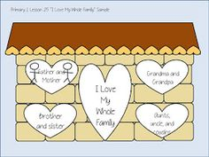 """Games and other activities for Family Night: Primary 1 Lesson 25 """"I Love My Whole Family"""""""