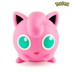 Jigglypuff Light up figurine Lamp Light, Light Up, Bandai Namco Entertainment, Led Lampe, Sound Waves, The Balloon, Big Eyes, Piggy Bank, Pink