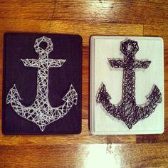 Anchor string art DIY