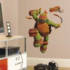 Teenage Mutant Ninja Turtles Michelangelo Giant Wall Decal