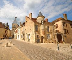 "Flavigny-sur-Ozerain in France was the film setting for the movie ""Chocolat"". Wonderful Places, Great Places, Places To See, Burgundy France, Auxerre, Places Worth Visiting, Beaux Villages, Dream Homes, Travel"