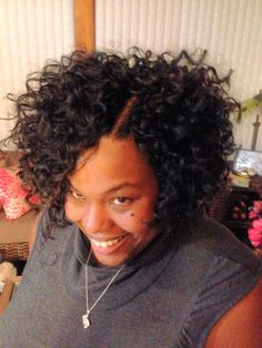 Crochet with freetress hair #crochethair #protectivestyle