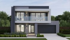 Fiverr freelancer will provide Architecture & Interior Design services and create rendering architecture design with max vray including Source File within 2 days Small Modern House Exterior, Modern Small House Design, Modern House Facades, Modern Bungalow House, Minimalist House Design, Modern Architecture House, Modern House Plans, Architecture Design, Modern Homes