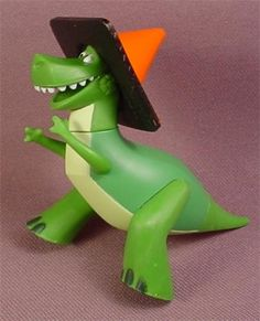 Disney Toy Story Rex The Dinosaur With A Traffic Cone On His Head, PVC Figure, 2 3/4 Inches