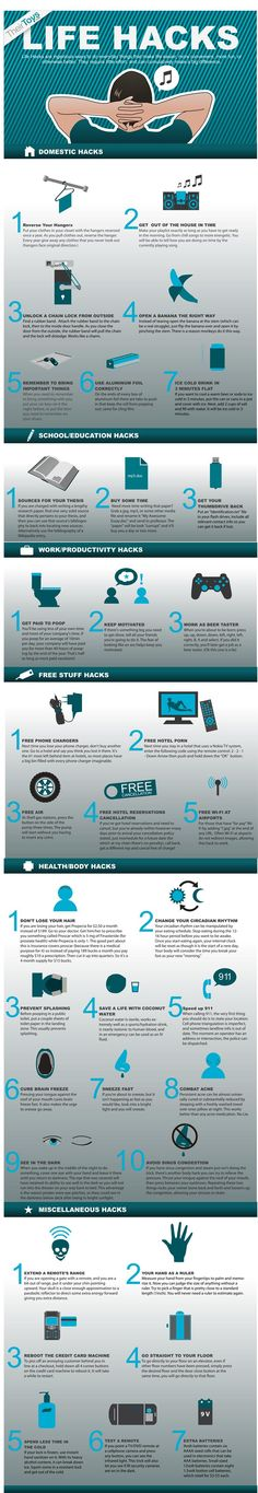35 Life Hacks You Should Know #infografia #infographic #life