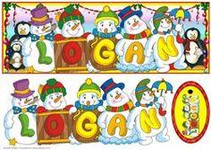 Snowmen Names Large Dl - Logan
