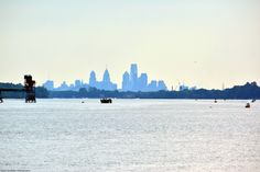 The requisite Philly-skyline shot as seen from the riverbed at low tide at Logan's Point.