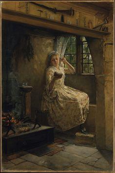 woman reading - Frank Millet (1846–1912) 1884